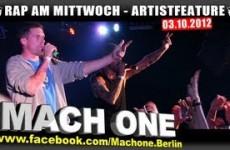 Artistfeature #11 Mach One - Schweinegrippe - Sperrt mich ein live