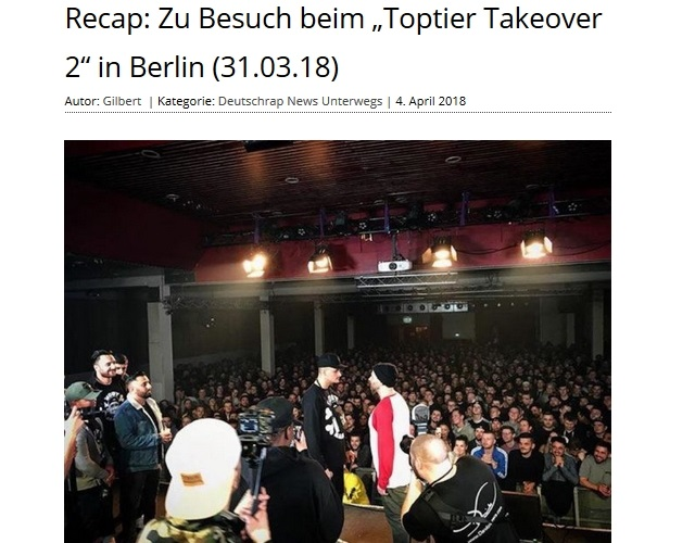 Rap'n'Blues über Toptier Takeover 2